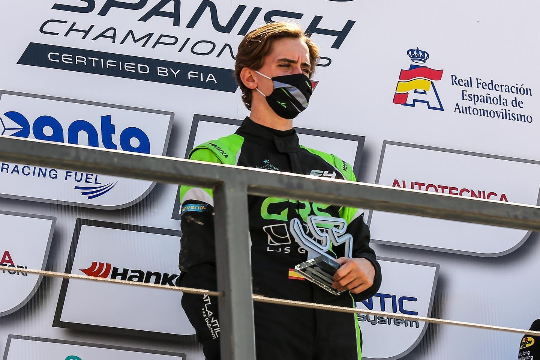 Lorenzo Fluxá con su podio en Navarra